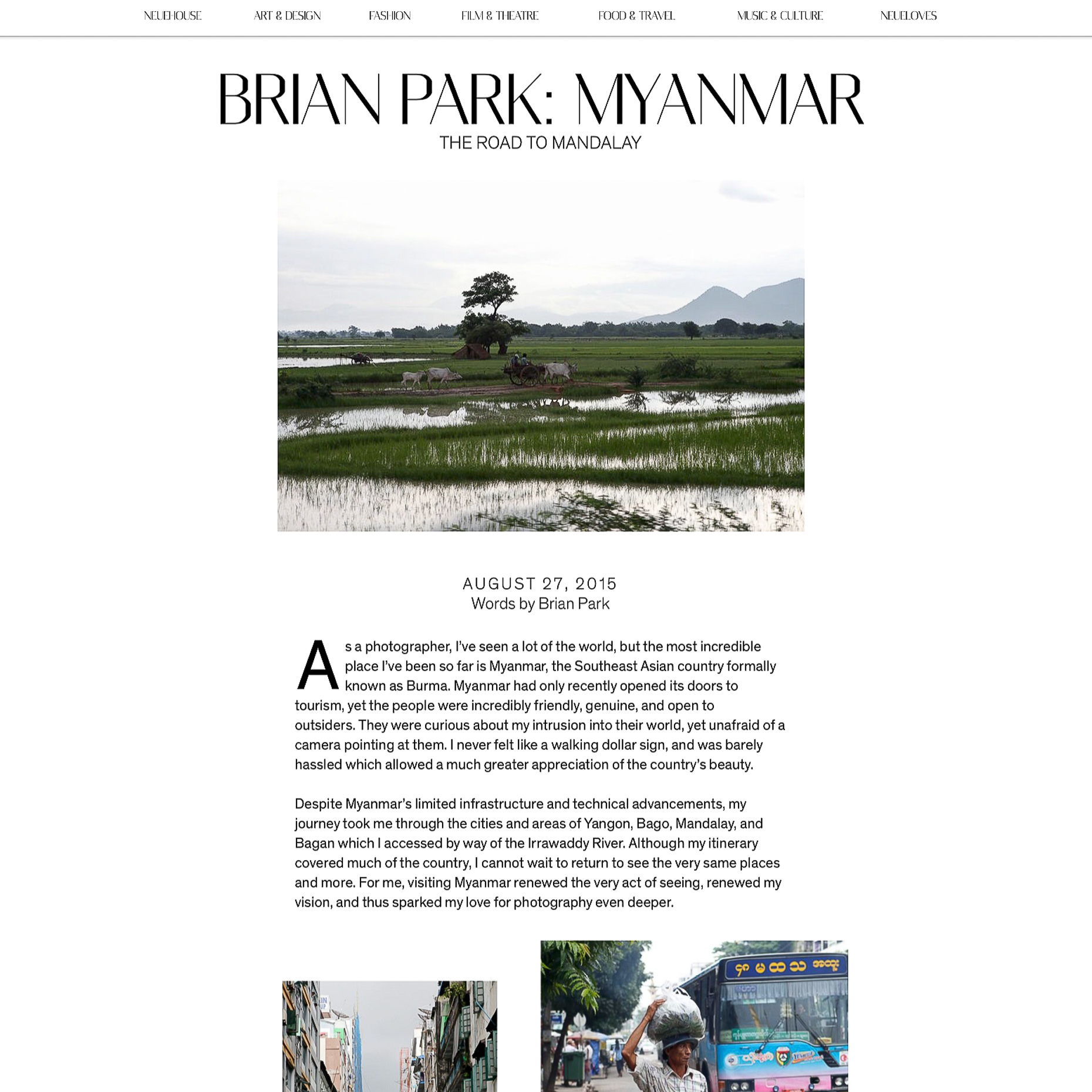 Published | NeueJournal | Myanmar | Brian Park Photo New York